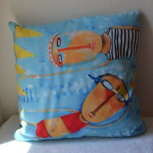 """DENY Designs Pillow """"Swimming is Hard"""""""